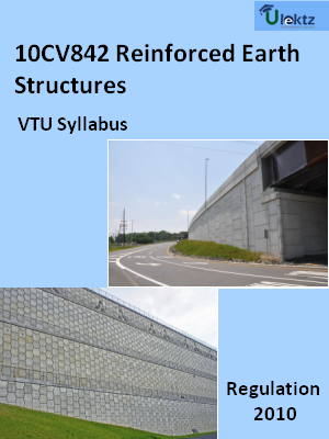 Reinforced Earth Structures  - Syllabus