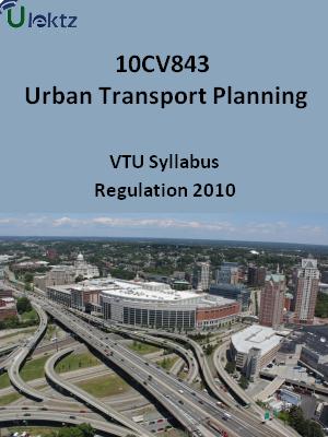 Urban Transport Planning - Syllabus