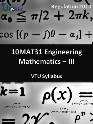 Engineering Mathematics – III - Syllabus