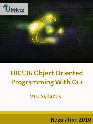 Object Oriented Programming With C++ - Syllabus