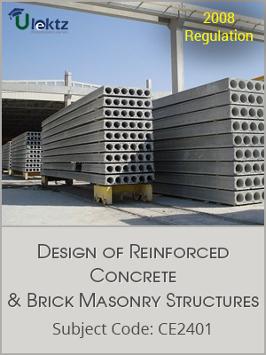 Important Questions for DESIGN OF REINFORCED CONCRETE AND BRICK MASONRY STRUCTURES
