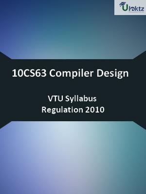 Compiler Design - Syllabus