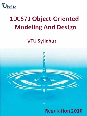Object-Oriented Modeling And Design - Syllabus