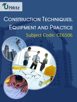 Important Question for CONSTRUCTION TECHNIQUES EQUIPMENT AND PRACTICE