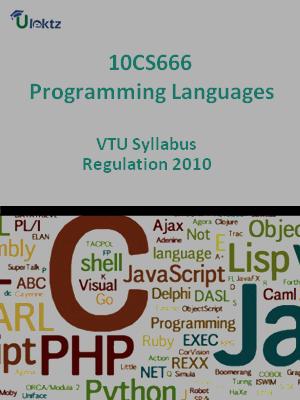 Programming Languages - Syllabus