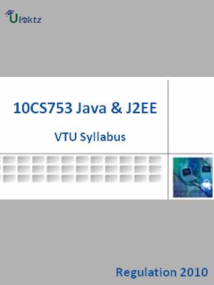 Java And J2EE - Syllabus