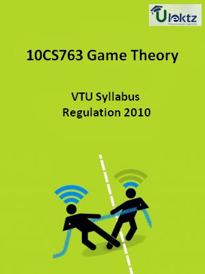 Game Theory - Syllabus