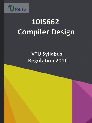 Compiler Design Syllabus 10is662 Ulektz Learning Solutions Private Limited