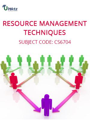 Important Question for RESOURCE MANAGEMENT TECHNIQUES