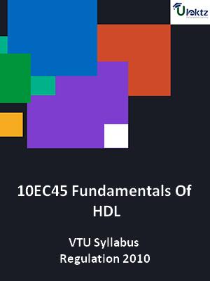 Fundamentals Of HDL - Syllabus
