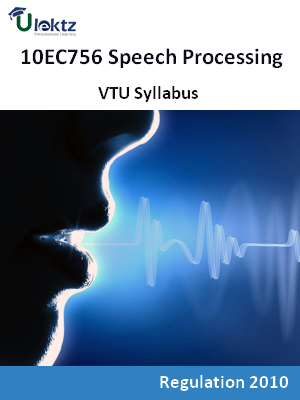 Speech Processing - Syllabus