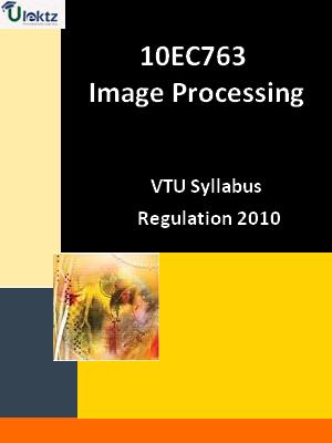 Image Processing - Syllabus