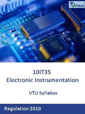 Electronic Instrumentation - Syllabus