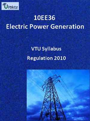 Electric Power Generation - Syllabus