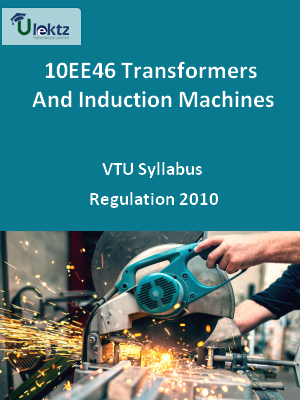Transformers And Induction Machines - Syllabus