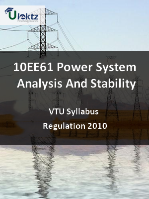 Power System Analysis And Stability - Syllabus