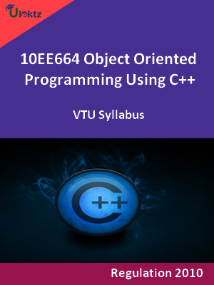 Object Oriented Programming Using C++ - Syllabus