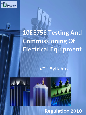 Testing And Commissioning Of Electrical Equipment - Syllabus