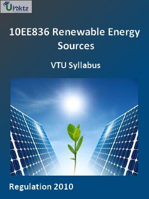 Renewable Energy Sources - Syllabus