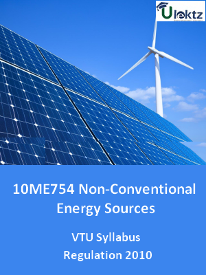 Non-Conventional Energy Sources - Syllabus
