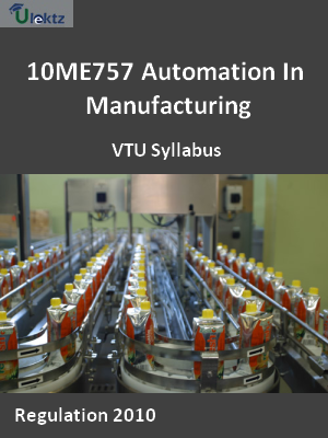 Automation In Manufacturing - Syllabus
