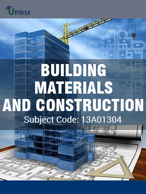 Important Questions for BUILDING MATERIALS AND CONSTRUCTION