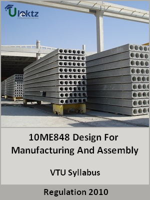 Design For Manufacturing And Assembly - Syllabus