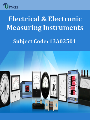 Important Question for Electrical & Electronic Measuring Instruments