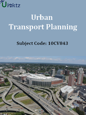 Important Question for Urban Transport Planning