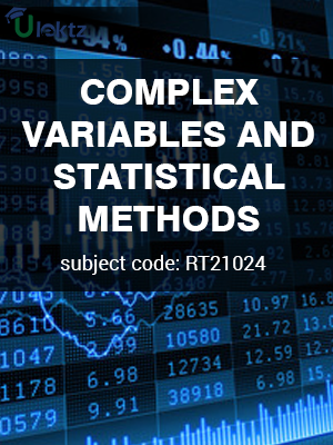 Complex Variables and Statistical Methods