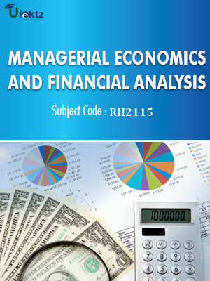 Important Question for Managerial Economics And Financial Analysis