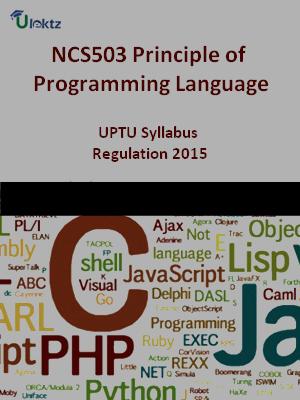 Principle of Programming Language - Syllabus