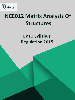 Matrix Analysis Of Structures - Syllabus