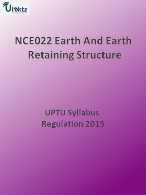 Earth And Earth Retaining Structure - Syllabus