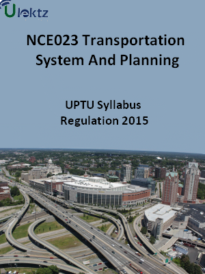 Transportation System And Planning - Syllabus