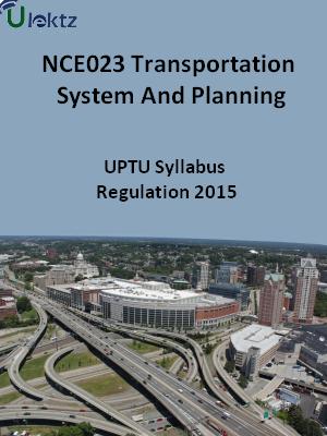 Transportation System And Planning - Syllabus