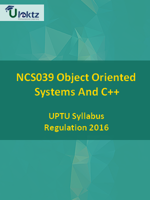 Object Oriented Systems And C++ - Syllabus