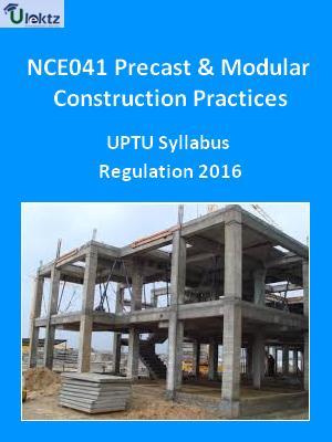 Precast And Modular Construction Practices - Syllabus