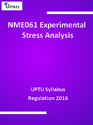 Experimental Stress Analysis - Syllabus