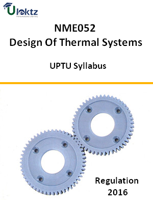 Design Of Thermal Systems - Syllabus