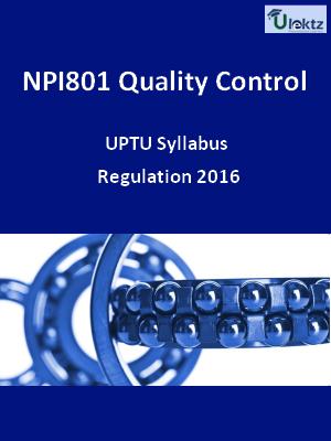 Quality Control - Syllabus