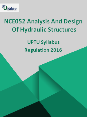 Analysis And Design Of Hydraulic Structures - Syllabus