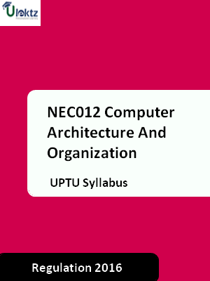 Computer Architecture And Organization - Syllabus