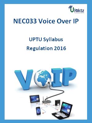 Voice Over IP - Syllabus