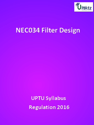 Filter Design - Syllabus
