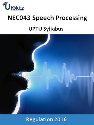 Speech Processing - Syllabus