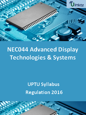 Advanced Display Technologies & Systems - Syllabus
