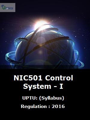Control System - I - Syllabus