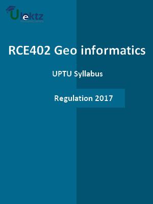 Geo-informatics - Syllabus