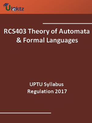 Theory of Automata And Formal Languages - Syllabus